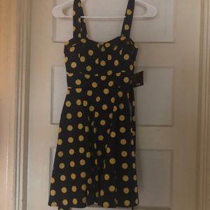 Modcloth Ixia Retro Pinup Mini Polka Dot Dress